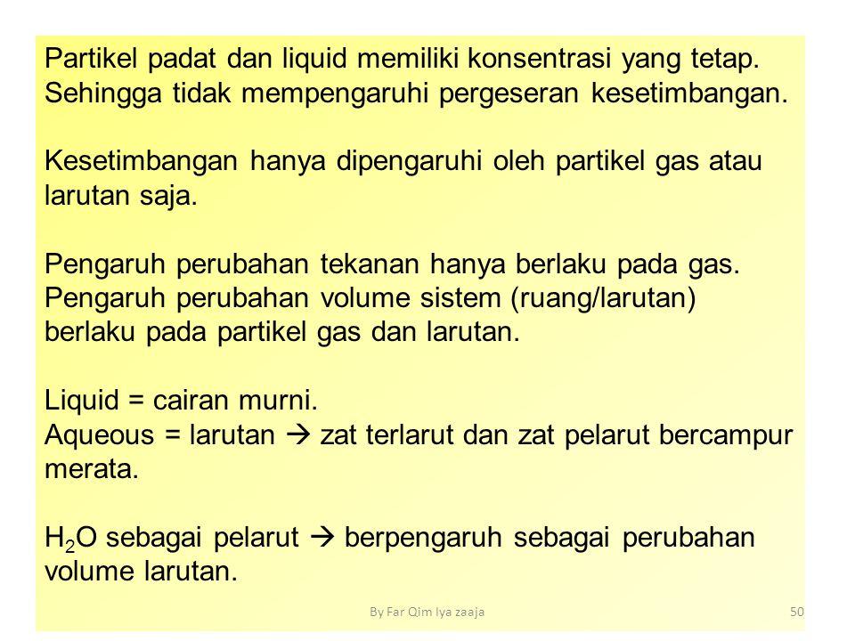 Partikel padat dan liquid memiliki konsentrasi yang tetap.