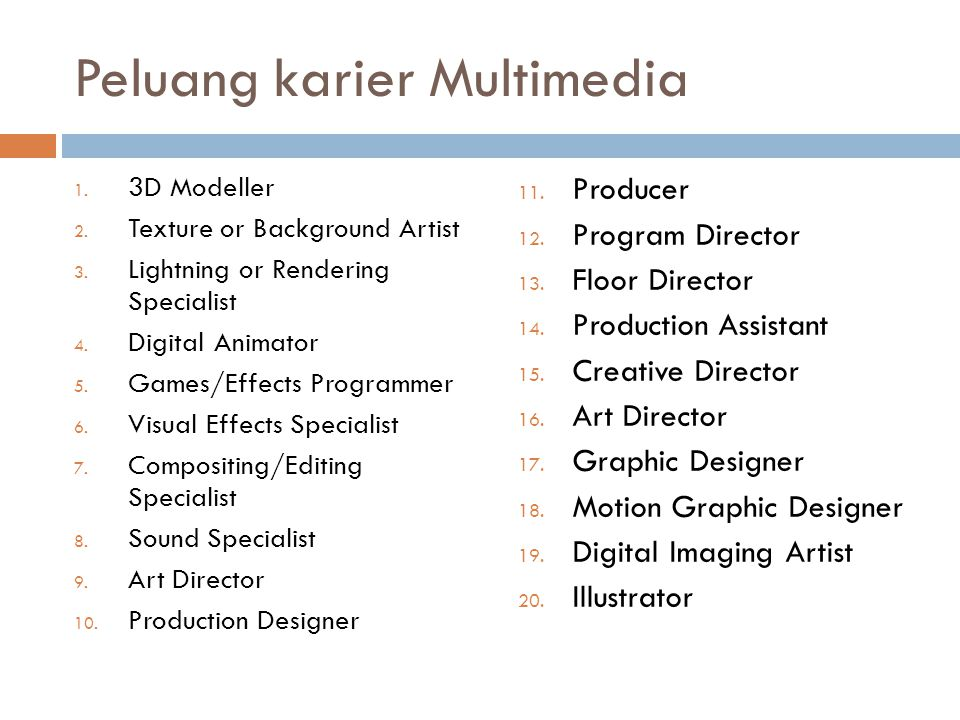 Peluang karier Multimedia