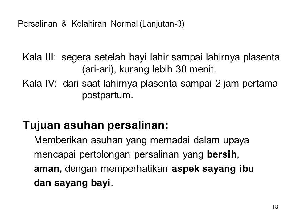 Persalinan & Kelahiran Normal (Lanjutan-3)