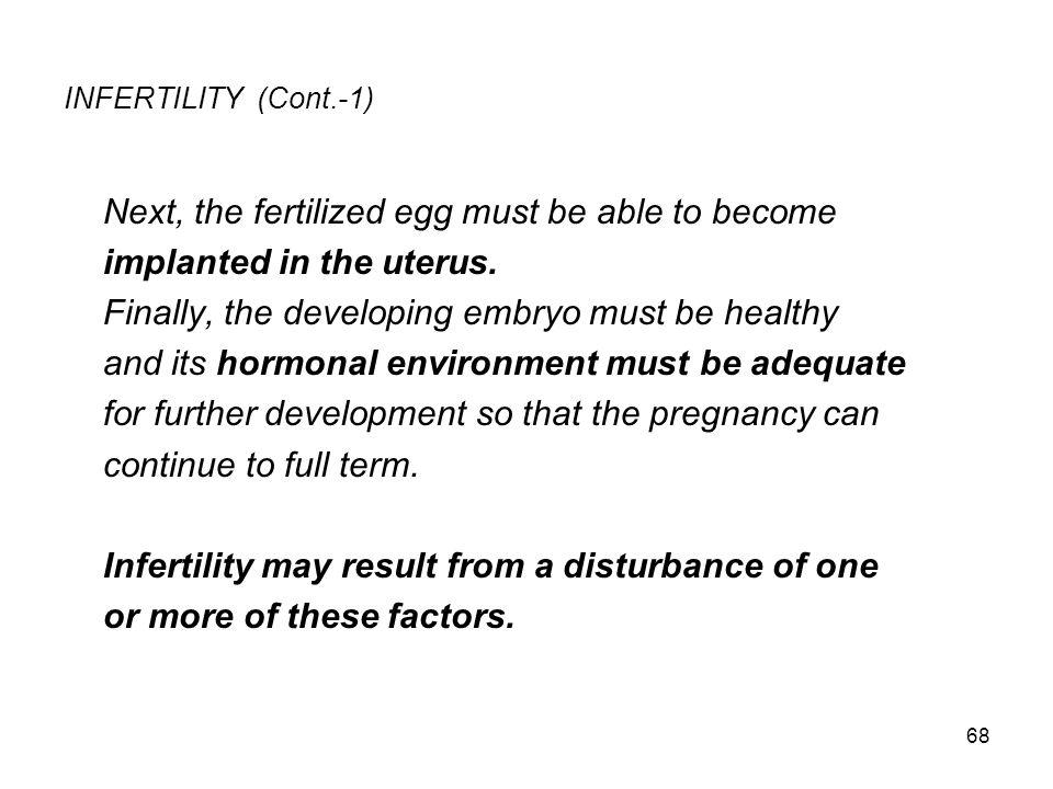 INFERTILITY (Cont.-1)