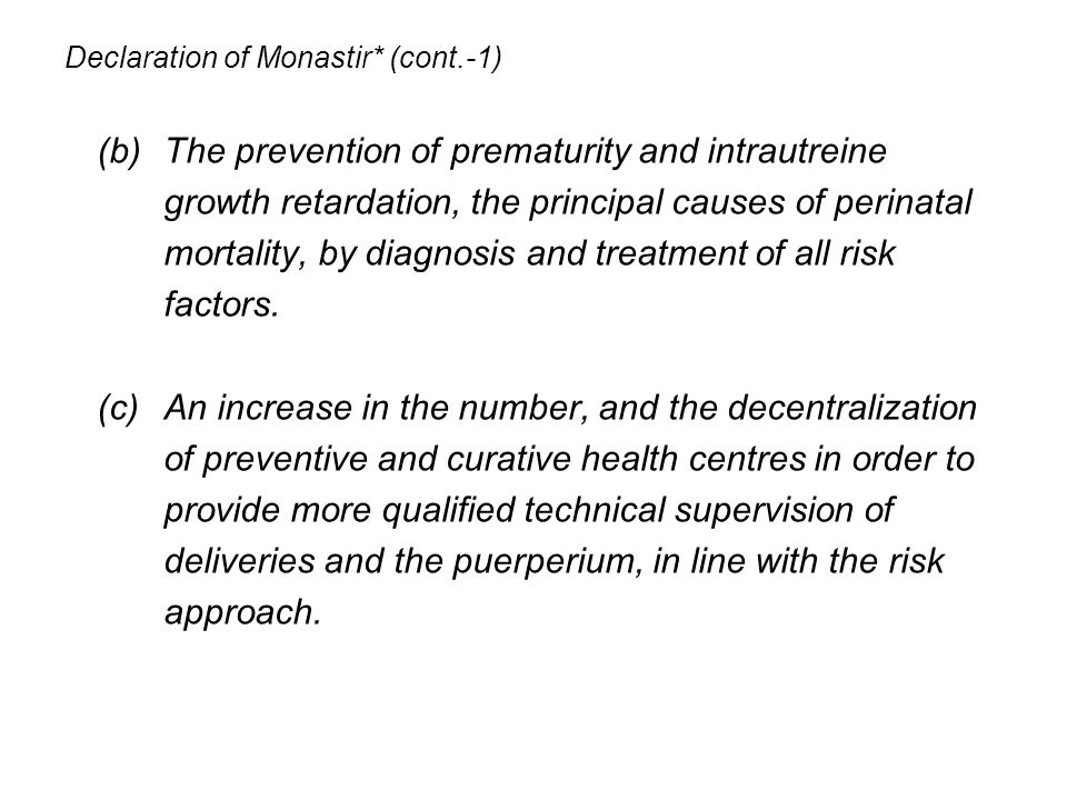 Declaration of Monastir* (cont.-1)