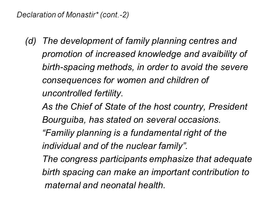 Declaration of Monastir* (cont.-2)