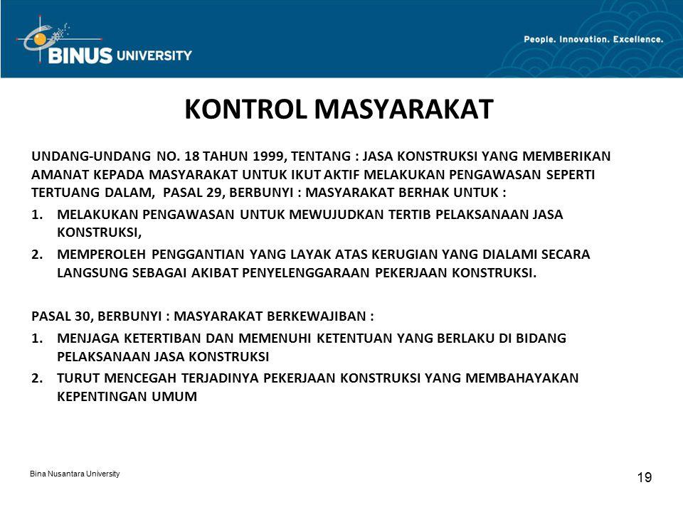 KONTROL MASYARAKAT