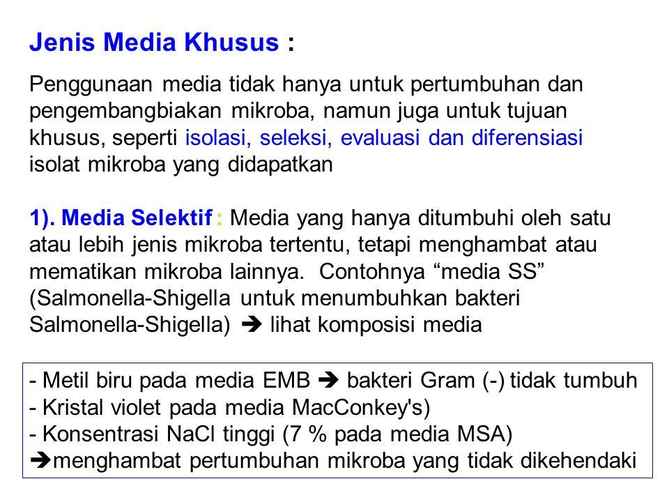 Jenis Media Khusus :