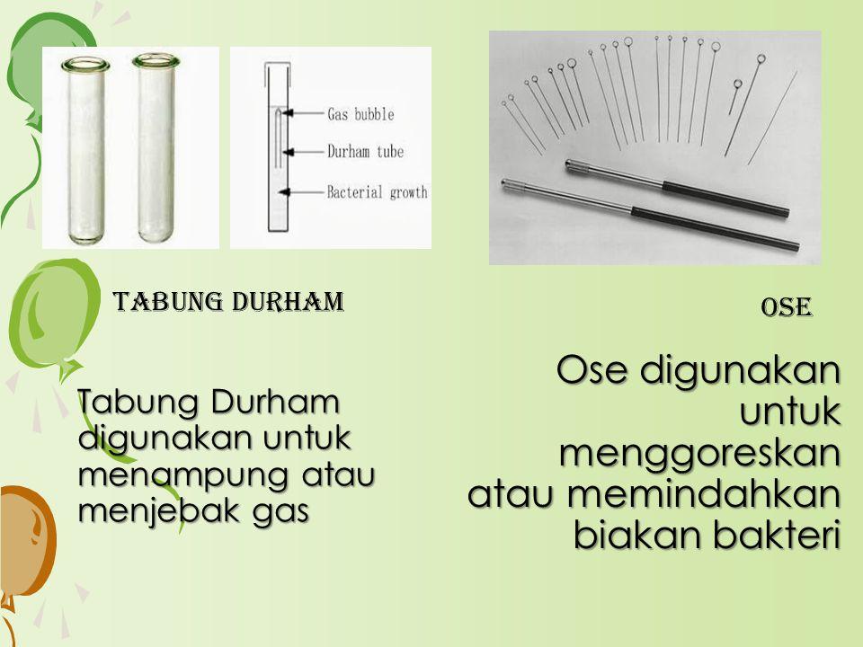 Tabung Durham digunakan untuk menampung atau menjebak gas