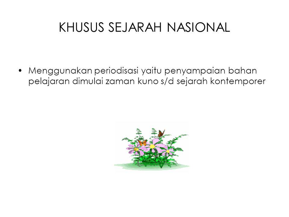 KHUSUS SEJARAH NASIONAL