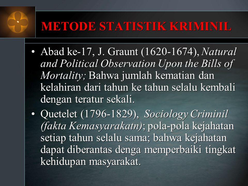 METODE STATISTIK KRIMINIL