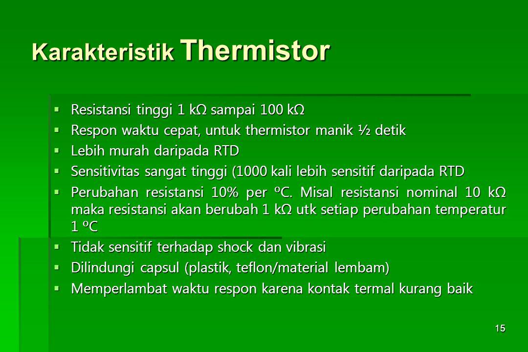 Karakteristik Thermistor