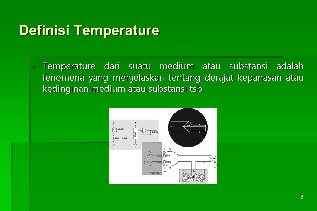Definisi Temperature
