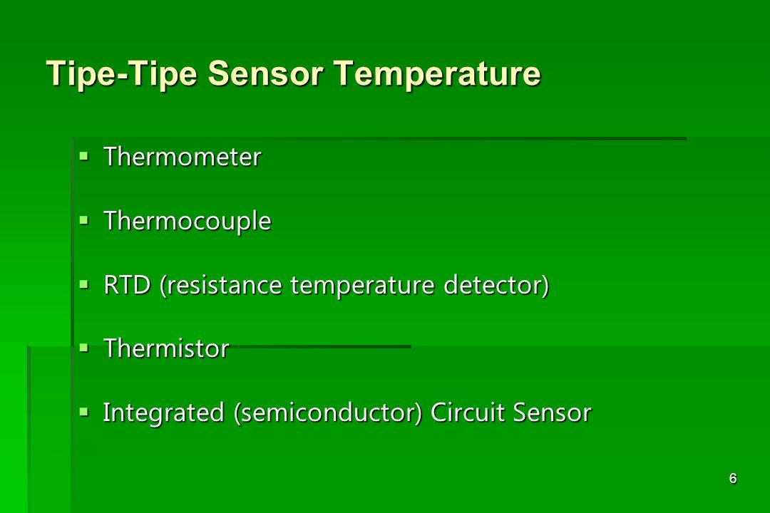 Tipe-Tipe Sensor Temperature
