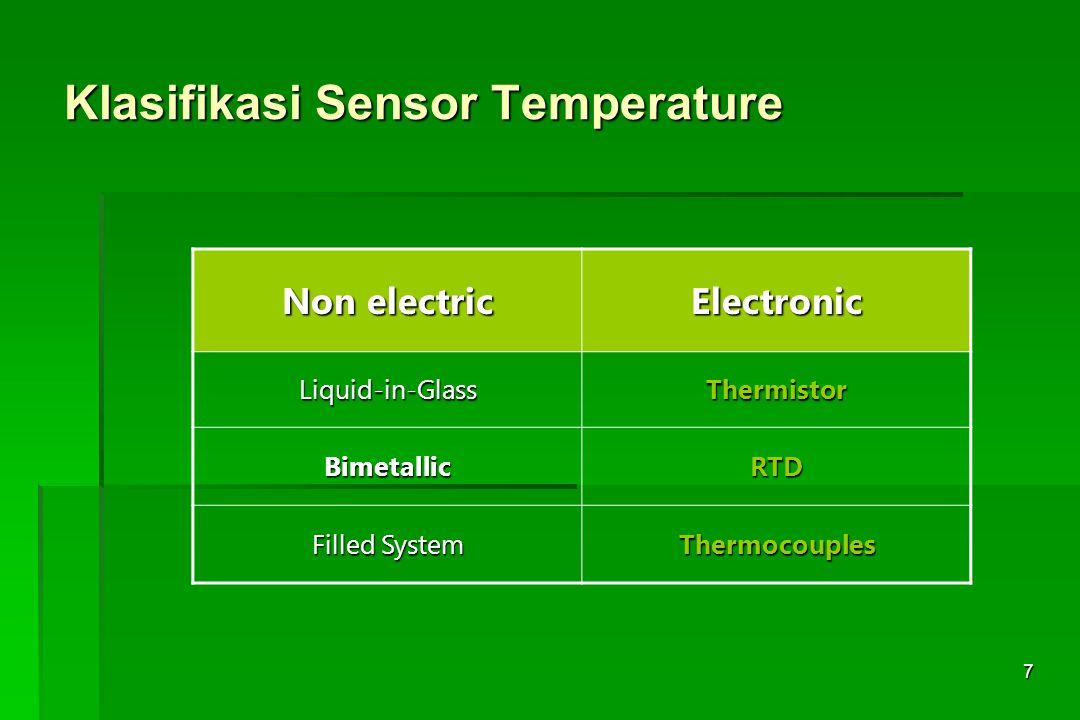 Klasifikasi Sensor Temperature