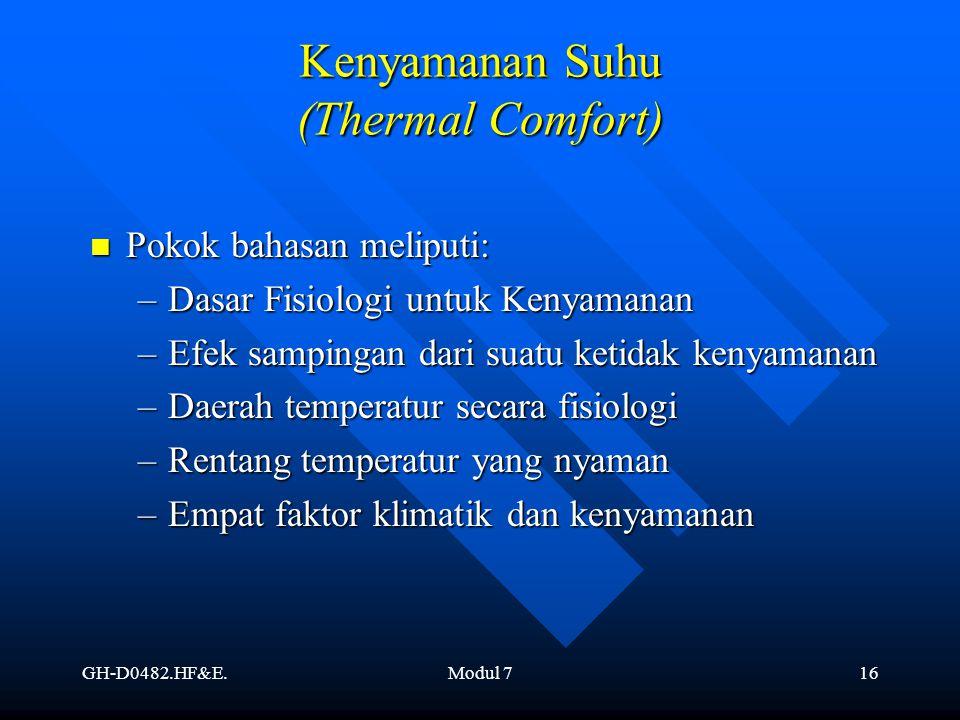 Kenyamanan Suhu (Thermal Comfort)