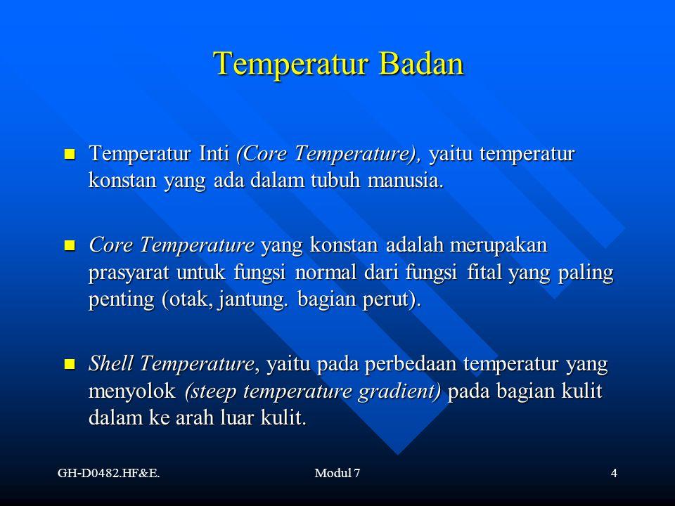 Temperatur Badan Temperatur Inti (Core Temperature), yaitu temperatur konstan yang ada dalam tubuh manusia.
