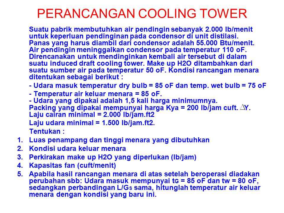 PERANCANGAN COOLING TOWER