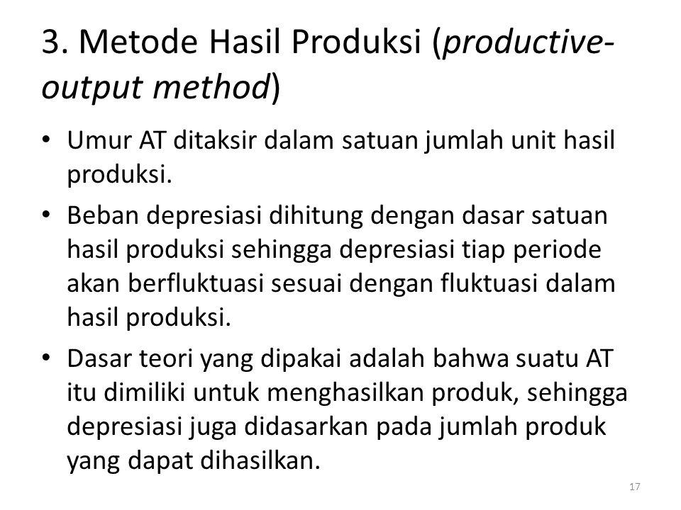 3. Metode Hasil Produksi (productive-output method)