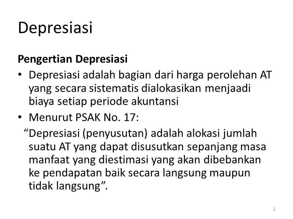 Depresiasi Pengertian Depresiasi