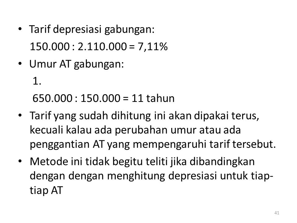 Tarif depresiasi gabungan:
