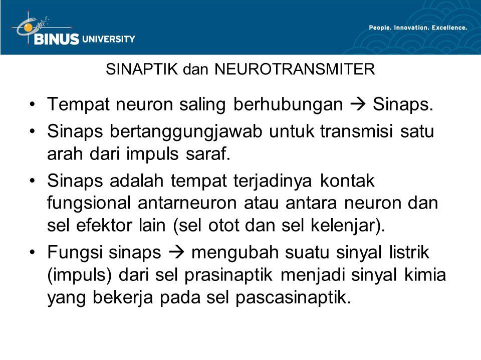 SINAPTIK dan NEUROTRANSMITER