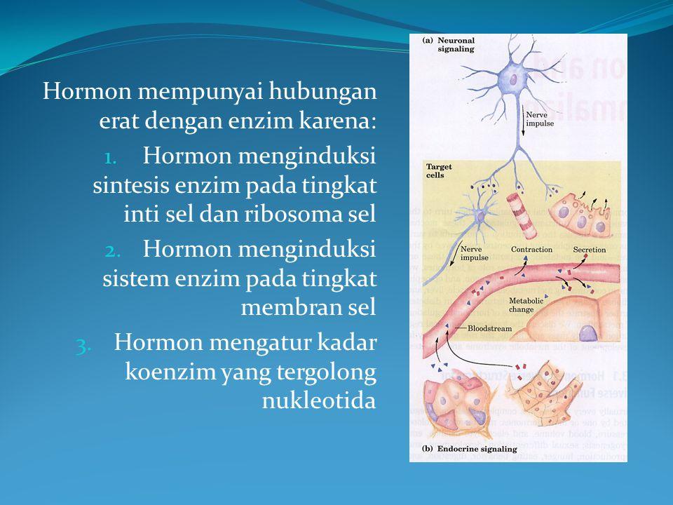 Hormon mempunyai hubungan erat dengan enzim karena: