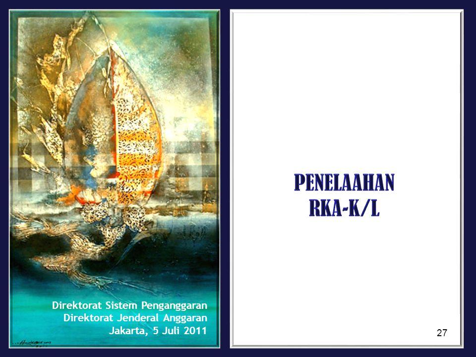 PENELAAHAN RKA-K/L Direktorat Sistem Penganggaran