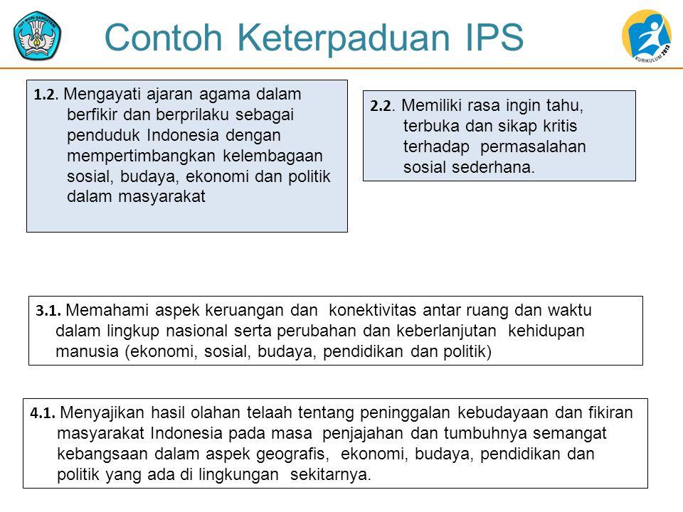 Contoh Keterpaduan IPS