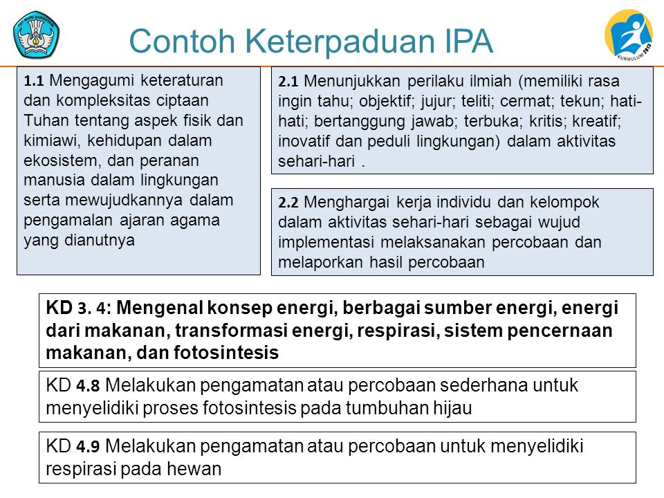 Contoh Keterpaduan IPA