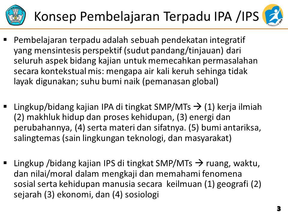 Konsep Pembelajaran Terpadu IPA /IPS