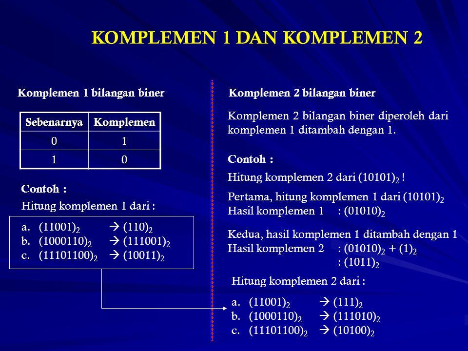 KOMPLEMEN 1 DAN KOMPLEMEN 2
