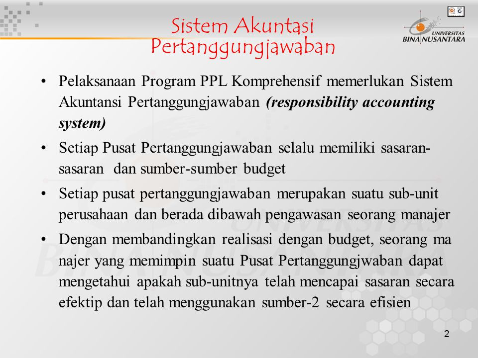 Sistem Akuntasi Pertanggungjawaban