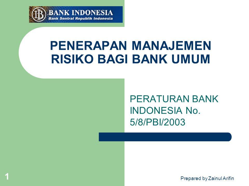 PENERAPAN MANAJEMEN RISIKO BAGI BANK UMUM