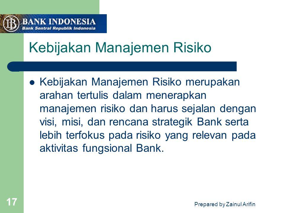 Kebijakan Manajemen Risiko