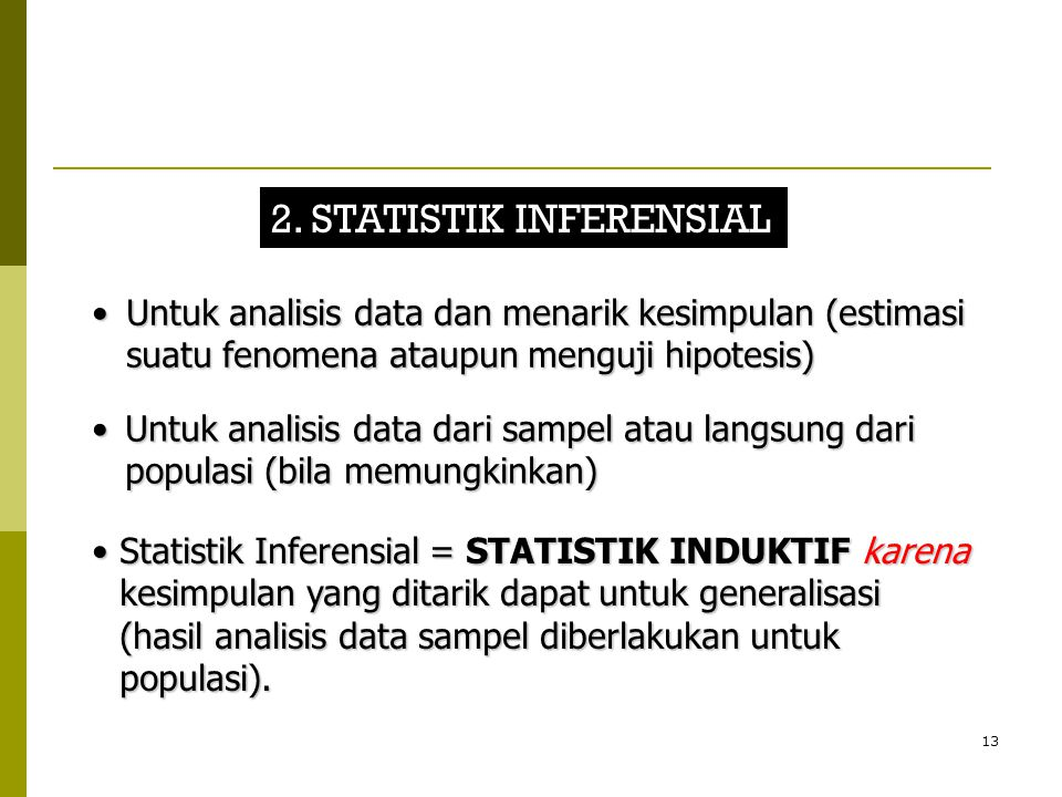 2. STATISTIK INFERENSIAL