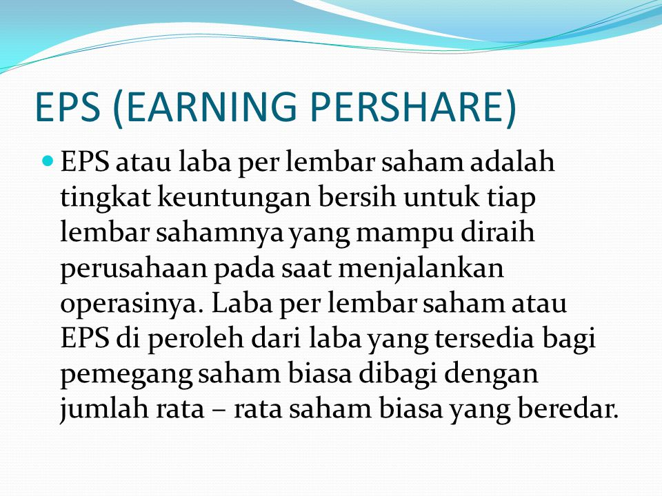 EPS (EARNING PERSHARE)