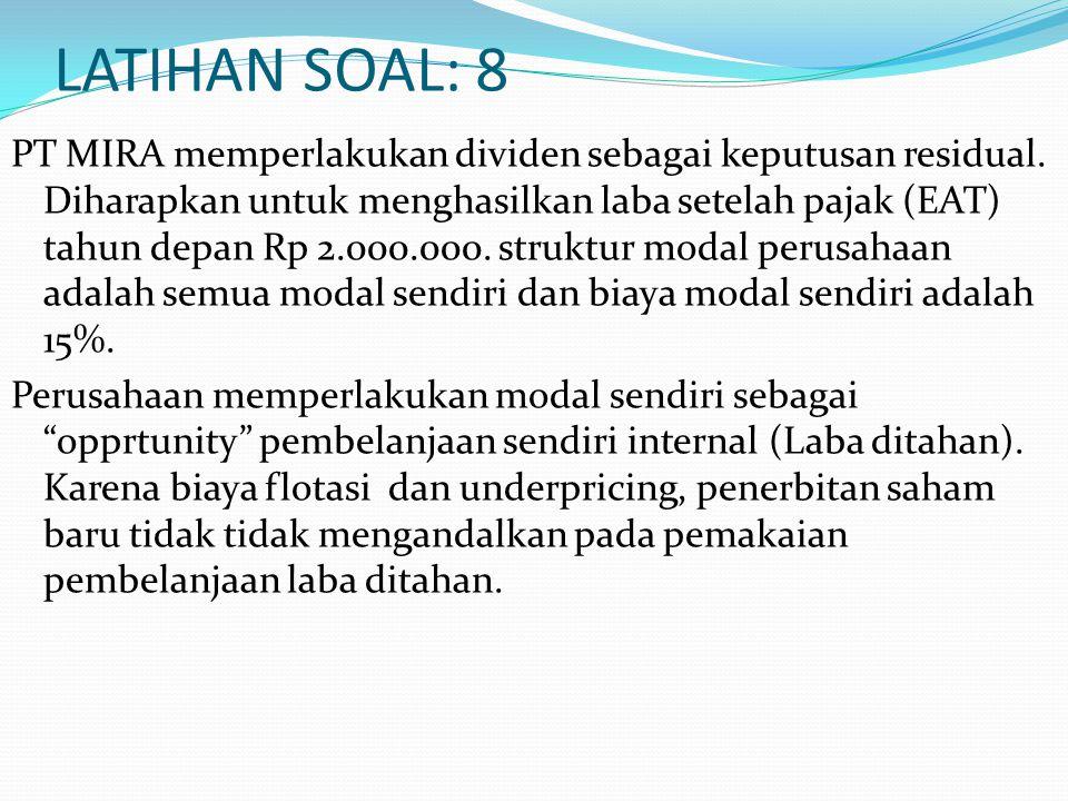 LATIHAN SOAL: 8