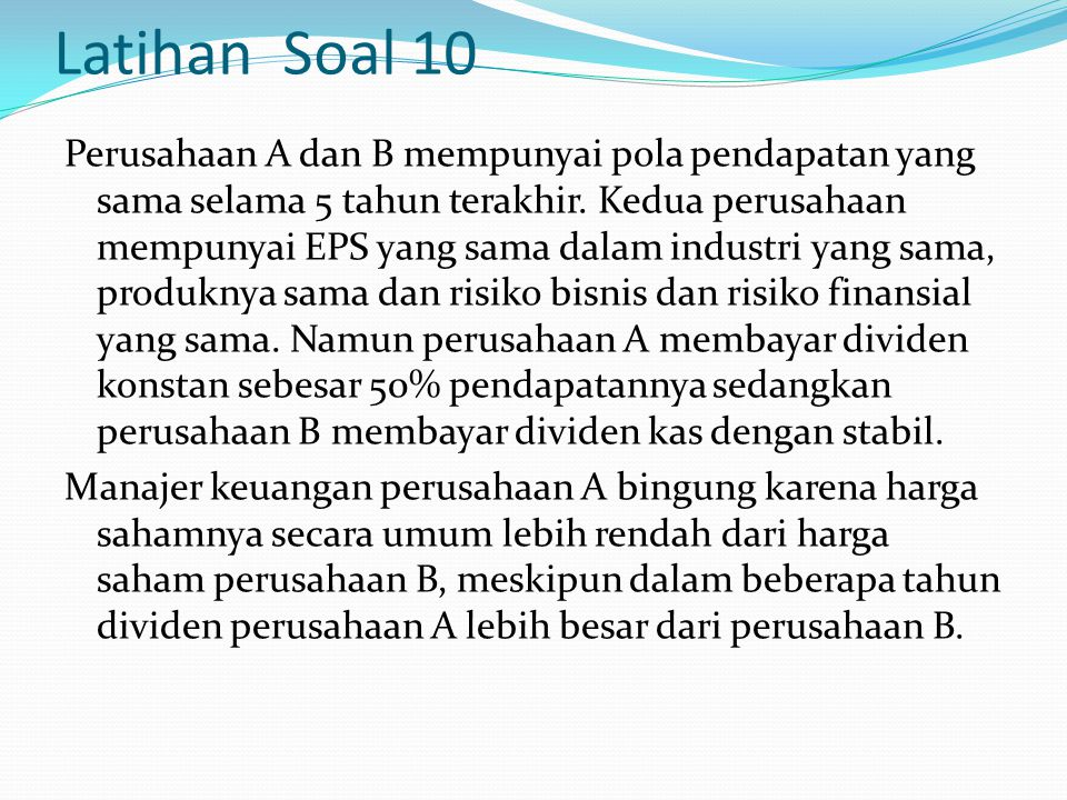 Latihan Soal 10