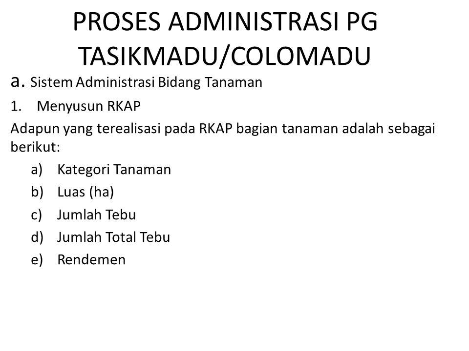 PROSES ADMINISTRASI PG TASIKMADU/COLOMADU