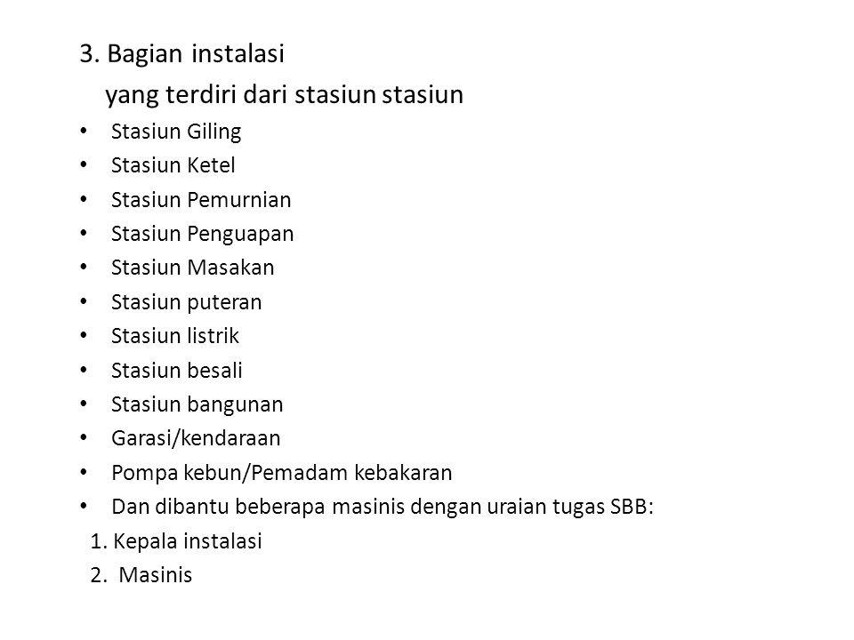 yang terdiri dari stasiun stasiun