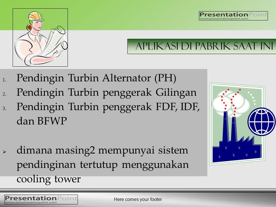 Pendingin Turbin Alternator (PH) Pendingin Turbin penggerak Gilingan