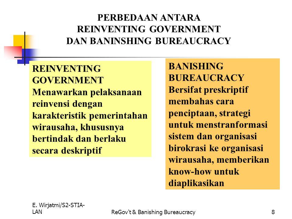 REINVENTING GOVERNMENT DAN BANINSHING BUREAUCRACY