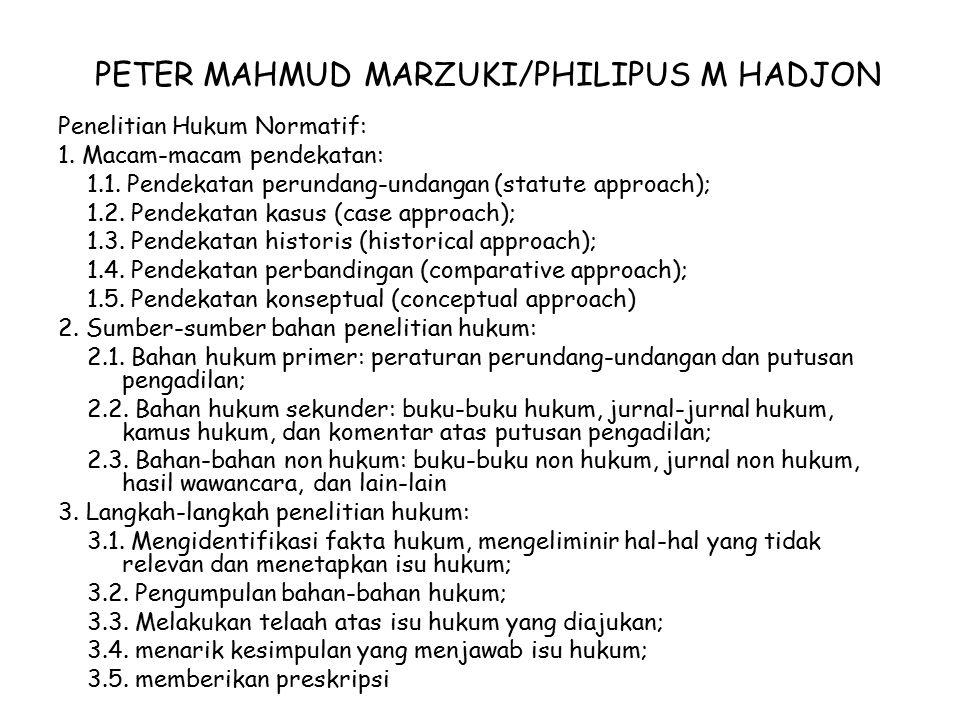 PETER MAHMUD MARZUKI/PHILIPUS M HADJON