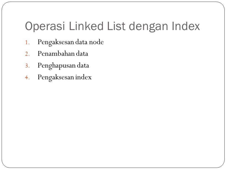 Operasi Linked List dengan Index