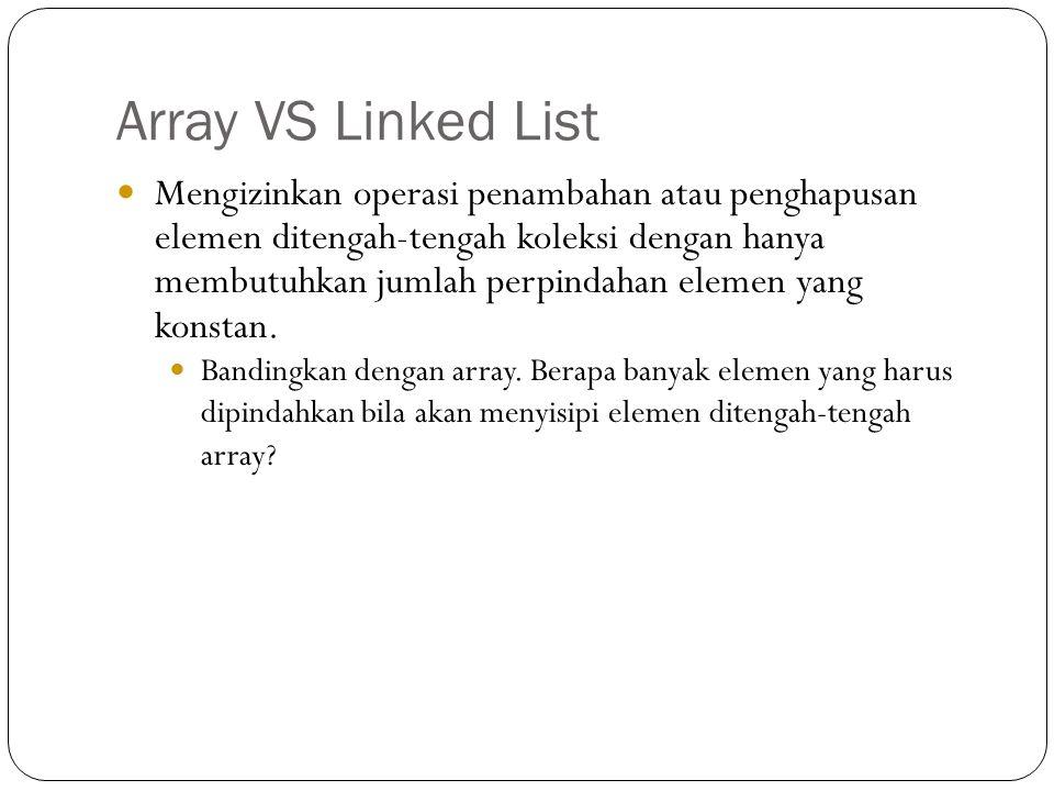 Array VS Linked List