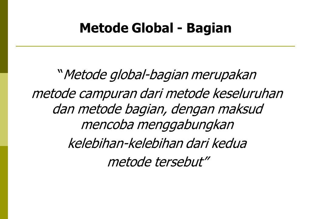 Metode Global - Bagian