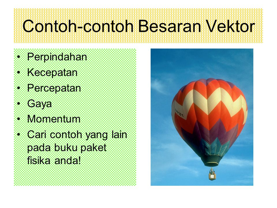 Contoh-contoh Besaran Vektor