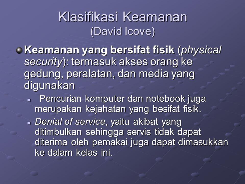Klasifikasi Keamanan (David Icove)