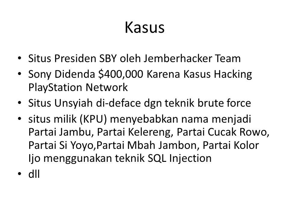 Kasus Situs Presiden SBY oleh Jemberhacker Team