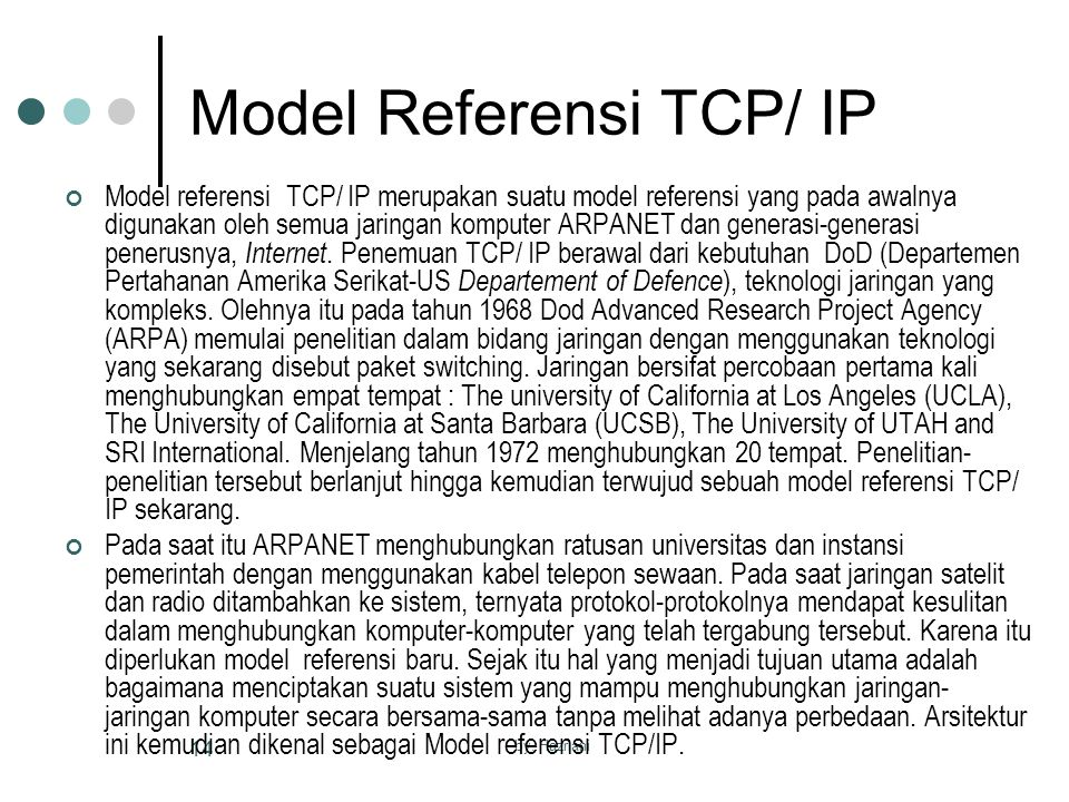 Model Referensi TCP/ IP