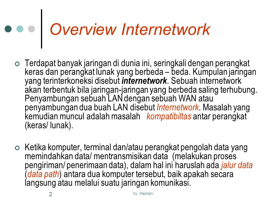 Overview Internetwork