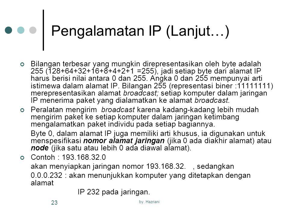 Pengalamatan IP (Lanjut…)