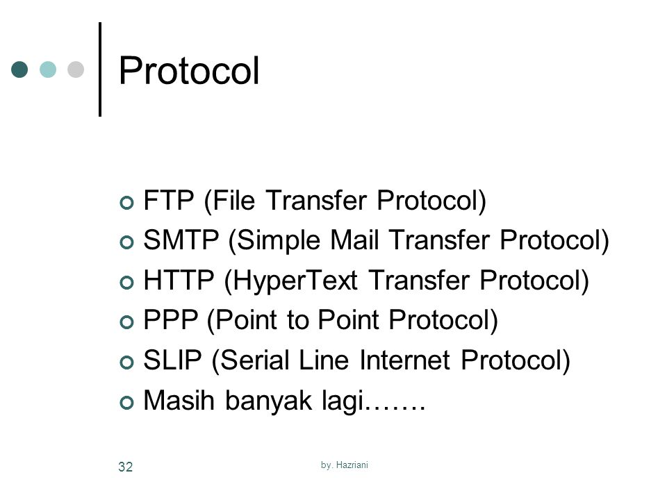 Protocol FTP (File Transfer Protocol)